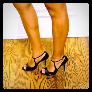 Guess by Marciano Shoes - Black Patent Leather Peak-A-Boo Toe!